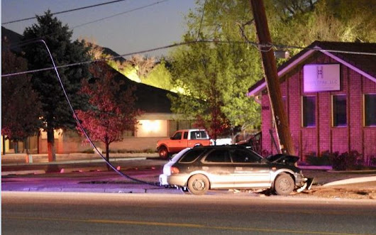 Driver fled scene after sheering off Midvale power pole | Gephardt Daily