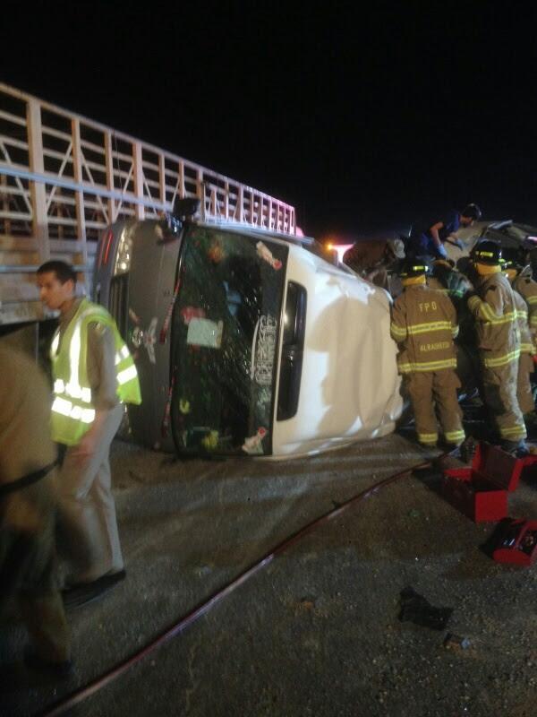 وفاة 11 مقيمًا وإصابة 14 في حادث سير بـ #الأحساء (8)