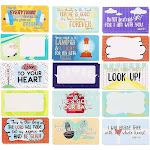 Juvale 60-Pack Motivational Religious Lunch Box Note Cards with Bible Verses, 30 Designs, 2 x 3.5 Inches