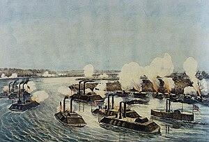 English: Bombardment and Capture of Island Num...