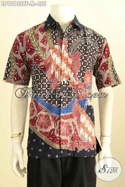 Model Baju Batik Atasan Wanita Lengan Pendek Hem Batik