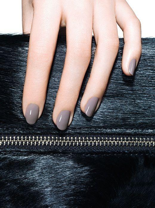 Le Fashion Blog Glossy Grey Nails Purple Gray Nail Polish Manicure Essie Chinchilly Ponyhair Clutch Bag photo Le-Fashion-Blog-Glossy-Grey-Nails-Purple-Gray-Nail-Polish-Manicure-Essie-Chinchilly-Ponyhair-Clutch-Bag.jpg