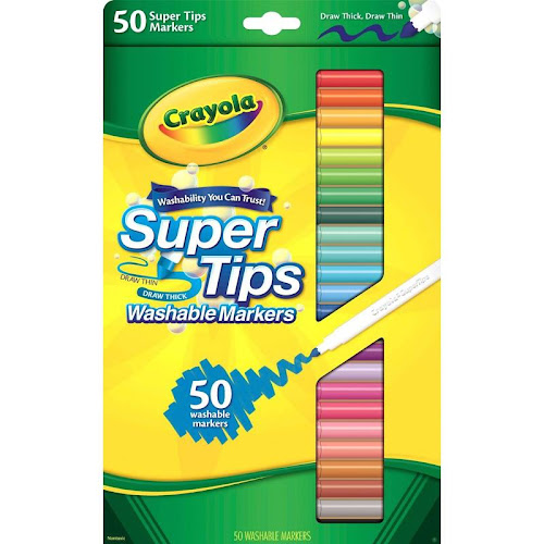 Crayola SuperTips Washable Markers - 50 count