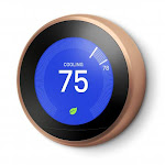 Google Nest Learning Thermostat 3rd Gen Copper - Wireless - Auto-Schedule capability - Easy Insallation