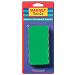 Dowling Magnets DO-735200BN Magnetic Whiteboard Eraser Assortedcolor - Pack of 6