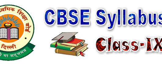 CBSE Syllabus for class 9 Maths Science SST Hindi English