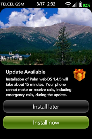 Two years later, webOS 1.4.5 update finally comes to the Telcel Palm Pre