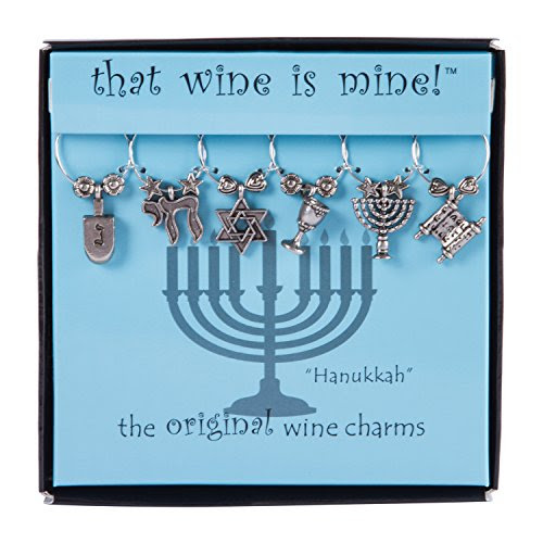 Hanukkah Wine Glass Charms (Set of 6)