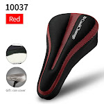 CoolChange Bicycle Saddle Cover Silicone Breathable Soft MTB Bike Seat Cushion Mat Seat Saddle Cushion Pad Cycling Accessories Style C Red