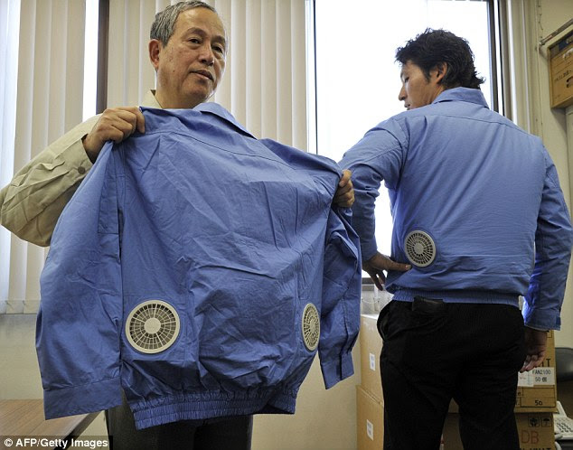 Always be cool with theKufukucho Air-Conditioned Cooling jacket, £95, complete with two small built-in fans