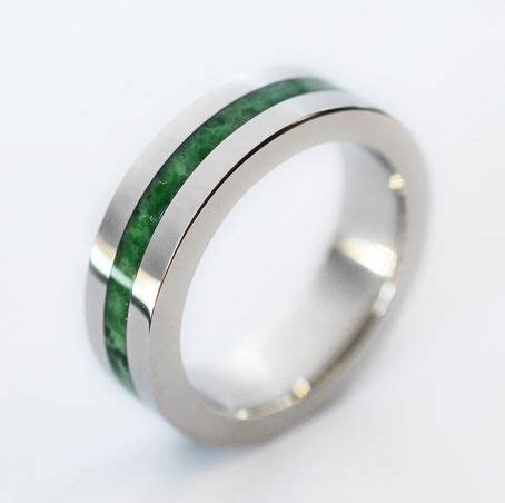 14k with jade inlay. J ALBRECHT DESIGNS   bespoke rings