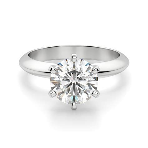 Engagement Rings   Solitaire   Tiffany Style Knife Edge 6