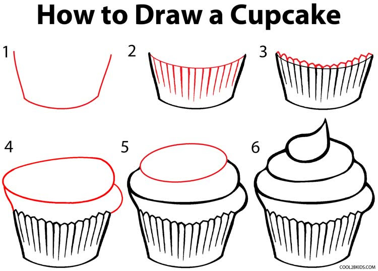 How To Draw A Cupcake  Step By Step Guide