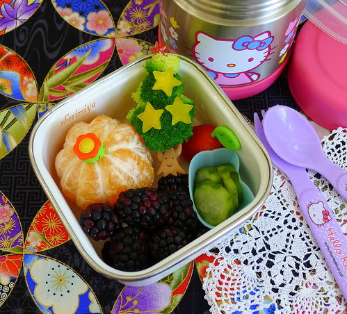 Christmas Tree Side Bento by sherimiya ♥