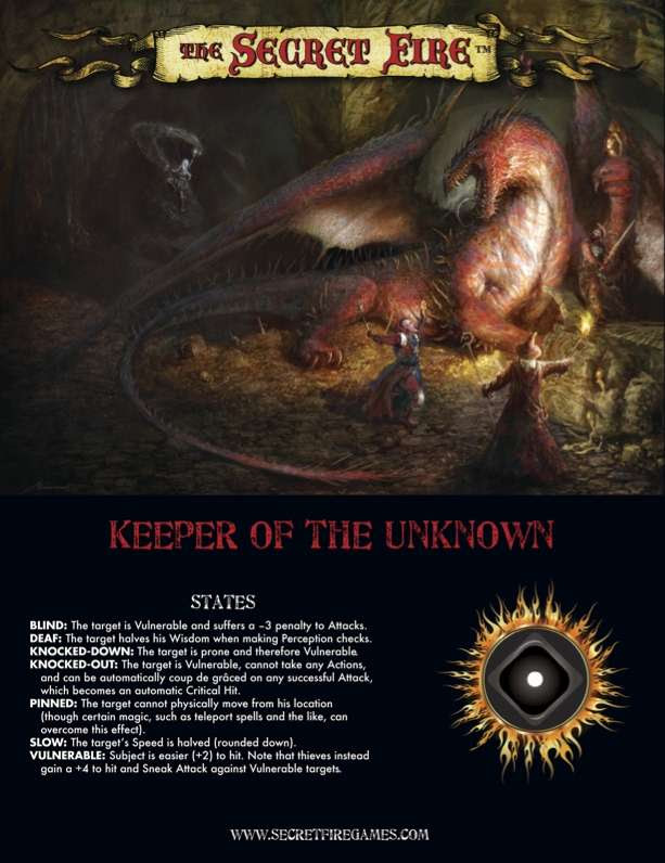 Tenkar's Tavern: Mini Review: The Secret Fire GM Screen