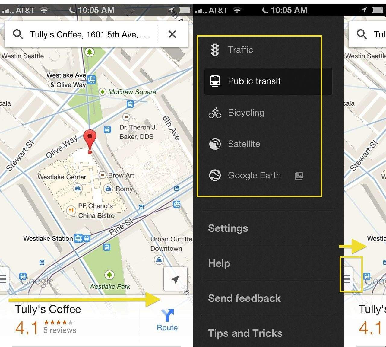Swipe Your Way To Better Results In The Google Maps App