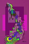 Artist  Singh - Peecock 1 By Artist Singh