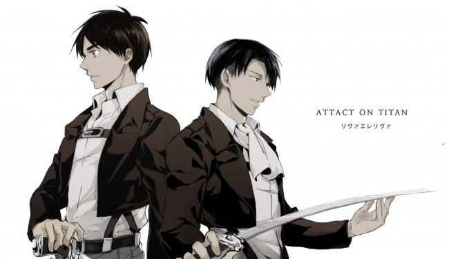 Wallpaper Levi Ackerman Eren Jaeger Shingeki No Kyojin Attack On Titan Wallpapermaiden