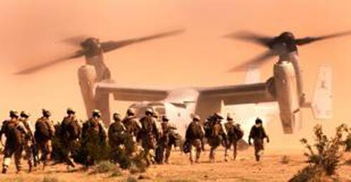 1800 βαριά οπλισμένοι Αμερικανοί πεζοναύτες με V-22 Osprey ξαφνικά στο Ισραήλ!
