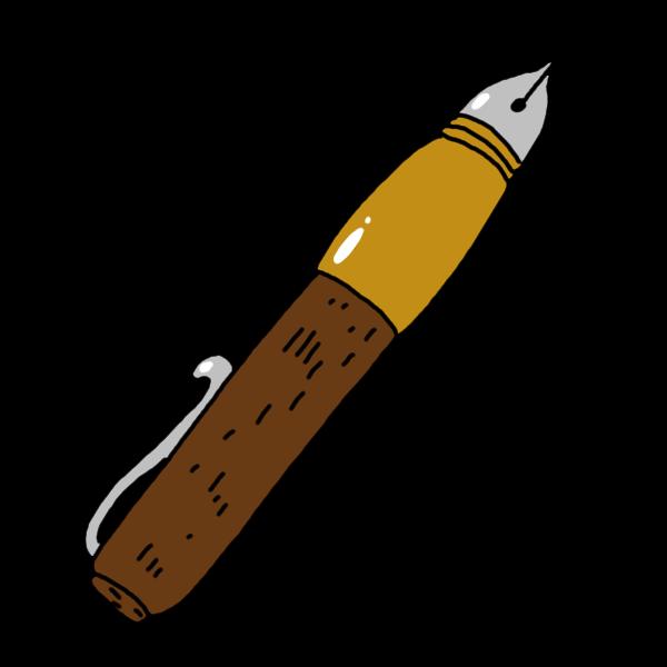 万年筆のイラスト かわいいフリー素材が無料のイラストレイン