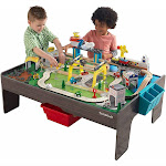 KidKraft My Own City Vehicle and Reversible Activity Table 120 plus Pieces
