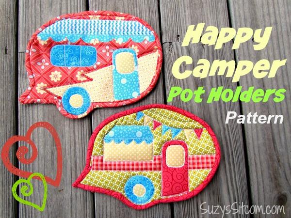 camper pot holders free pattern