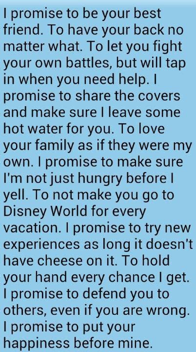 I love how light hearted these vows are, adding in