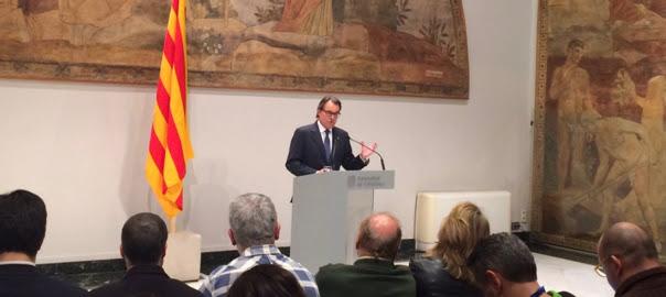 Artur Mas en conferència de premsa per anunciar l'acord