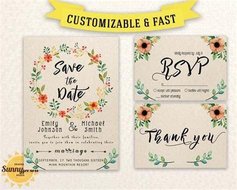 Wedding Invitation Template Download   Printable Wedding