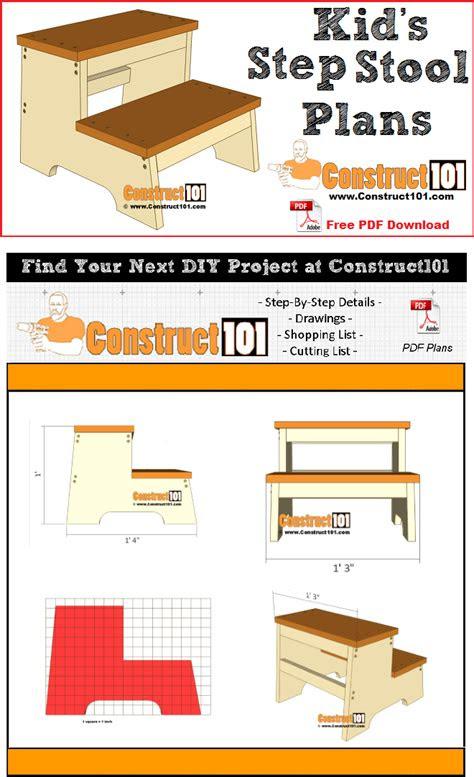kids step stool plans   construct