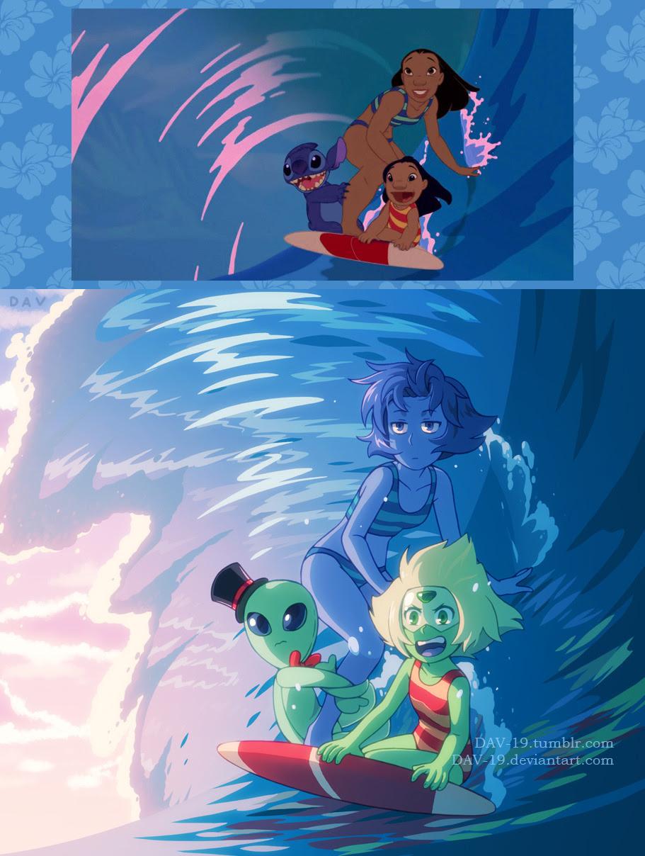"Screenshot Redraw ""Lilo & Stitch"" as ""Steven Universe"""