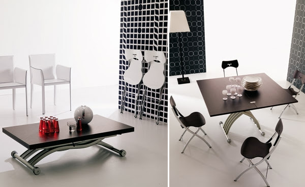Dining Room Sets for Small Spaces: transformable table and chairs ...