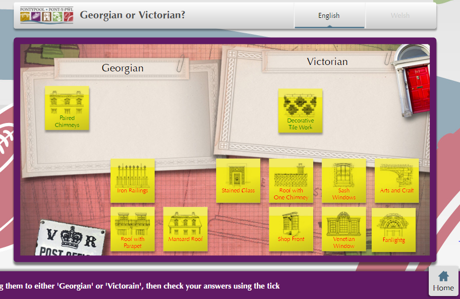 Georgian or Victorian architectural Features Game