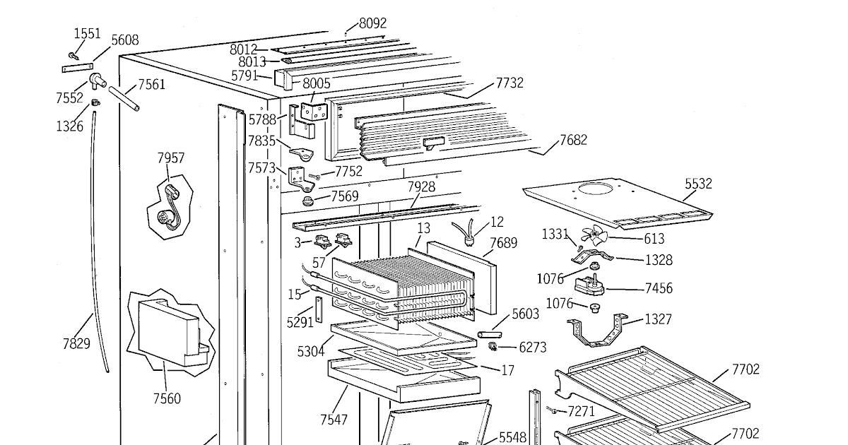 diagram for ge refrigerator. Black Bedroom Furniture Sets. Home Design Ideas