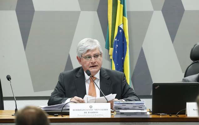 O procurador-geral da República, Rodrigo Janot, é sabatinado na CCJ do Senado