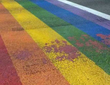 LGBTQ Pride crosswalk in Lethbridge vandalized; third such incident in Alberta this month