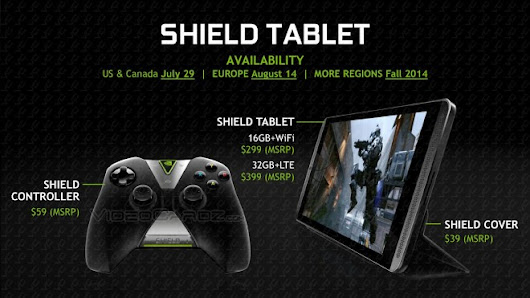 NVIDIA Shield tablet to come with 8-inch full HD screen; cost $299 | ChipLoco