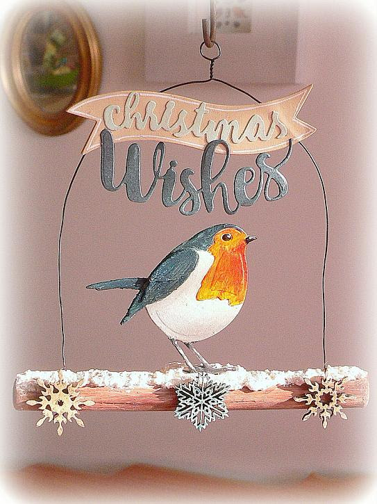 Christmas Robin on a Branch