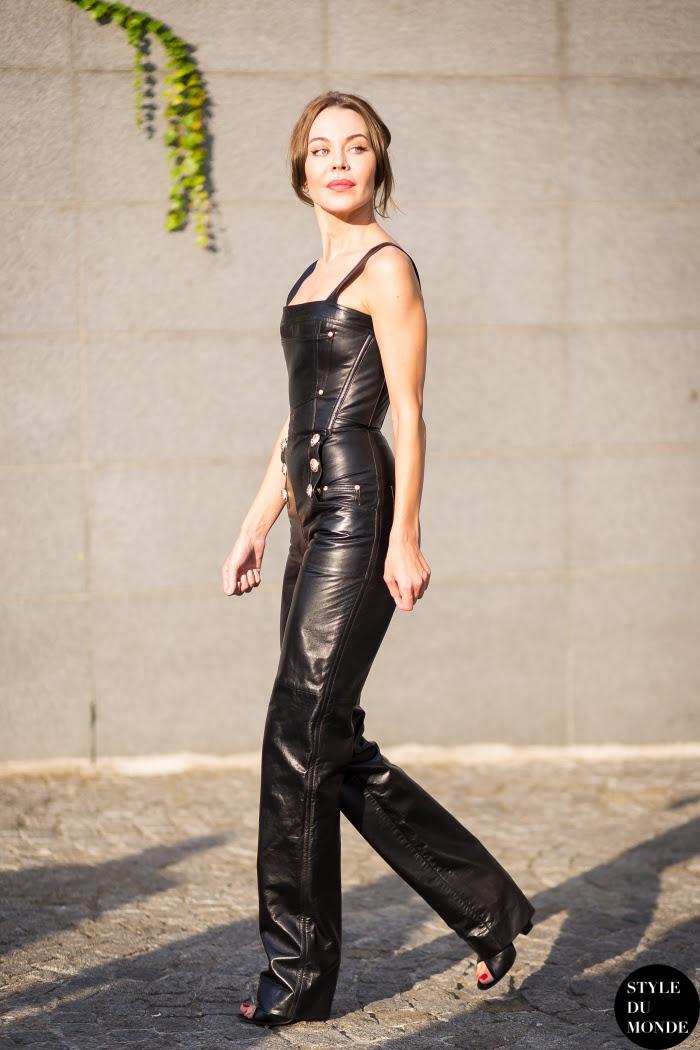 Ulyana Sergeenko Street Style Street Fashion Streetsnaps by STYLEDUMONDE Street Style Fashion Blog