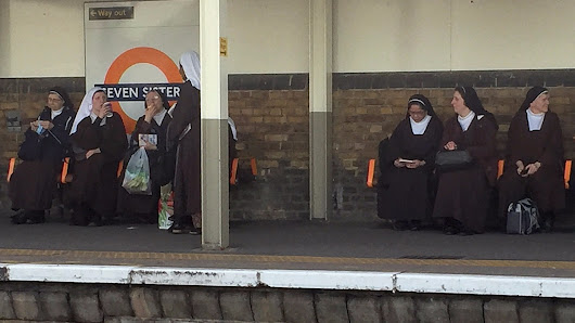 Seven nuns spotted at Seven Sisters Underground station