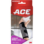 3M 96233001 ACE Splint Wrist Brace Gray - One Size Fits Most - Left or Right Hand