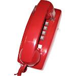 Cortelco - ITT-2554-V-RD Corded Wall Phone - Red