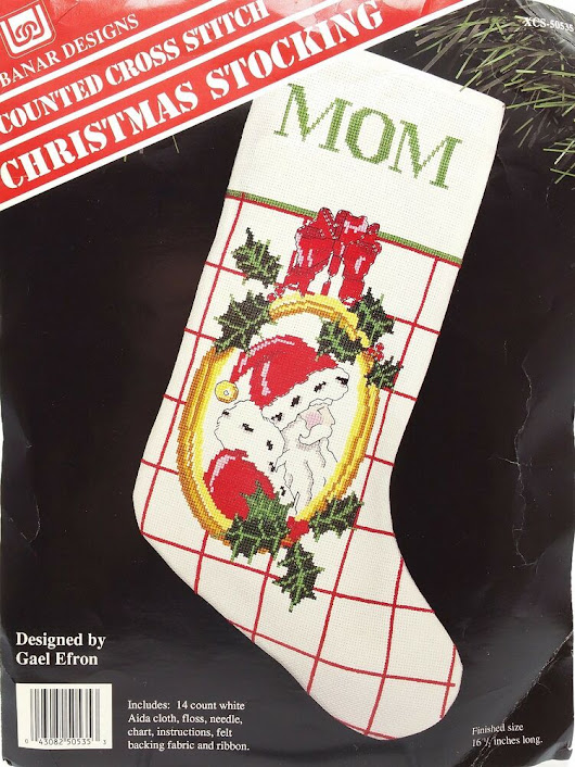 Counted Cross Stitch Kit Santa Christmas Stocking New Vintage by Banar Designs