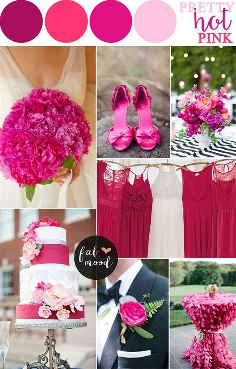 Hot Pink Wedding Color Combos   Pink Wedding   Pink