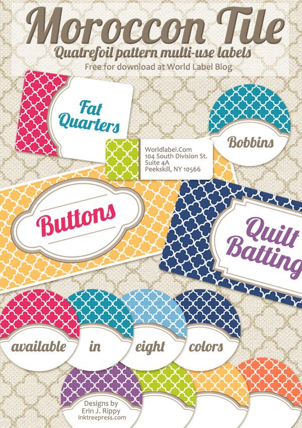 Free Editable Quatrefoil Labels | Fab N