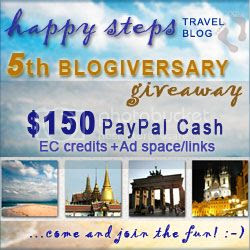 Happy Steps Travel Blog 5th Anniversary Giveaway