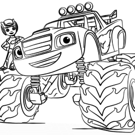 Blaze The Monster Machine Coloring Pages at GetDrawings ...