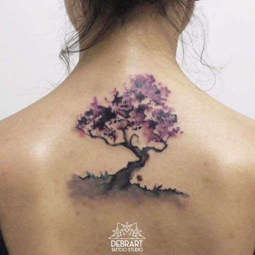 Back Tree Tattoo Watercolor Best Tattoo Ideas Gallery