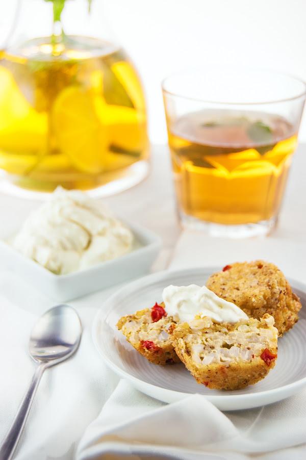 Buckweat-Quinoa veggie muffins with lime-vanilla cream-cheese frosting