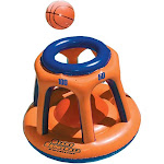 Swimline 90285 Basketball Hoop Giant Shootball Inflatable Fun Swimming Pool Toy by VM Express